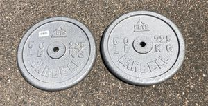 Two 50 pound plate weights! for Sale in Denver, CO