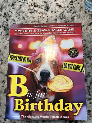 B is for Birthday Mystery Jigsaw Puzzle by TDC Games for Sale in Bellevue, WA