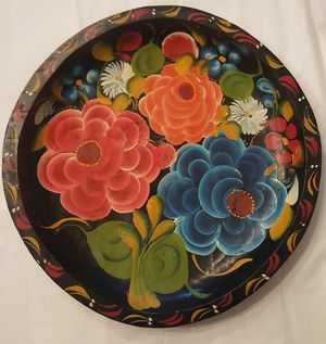 Painted Wooden Platter for Sale in Odenton, MD