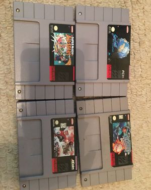4 Super Nintendo games for Sale in Rancho Cucamonga, CA