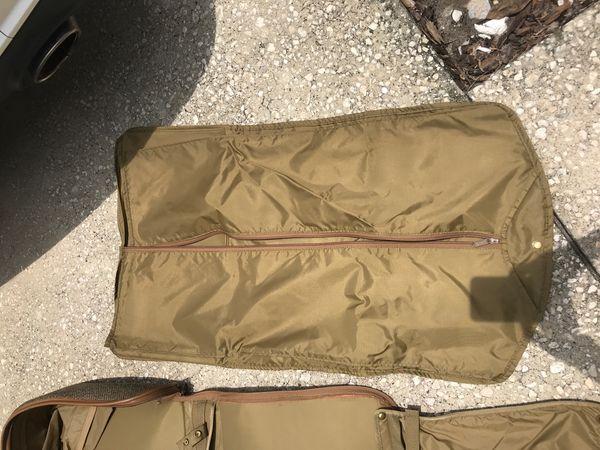 VINTAGE HARTMAN TWEED LEATHER GARMENT BAG LUGGAGE