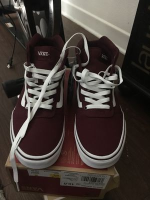 Burgundy women vans size 10- men size 8 for Sale in Rancho Cucamonga, CA