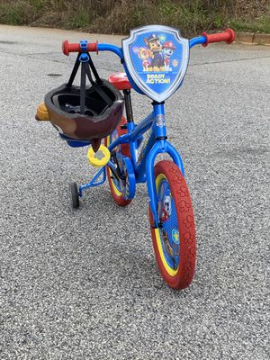 Paw Patrol bike with Chase Helmet for Sale in Atlanta, GA