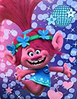 Dreamworks Trolls Silky Soft Throw Blanket, size 40 inches x 50 inches.