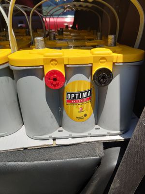 SEMI-NEW OPTIMA BATTERIES AVAILABLE BATTERYS 8 MONTH WARRANTY WE NEED CORE for Sale in Anaheim, CA