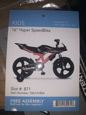 "16"" Kids Hyper Speed Bike for Sale in Columbus, OH"
