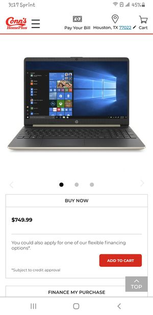 HP 15 TS NOTEBOOK PC TOUCHSCREEN for Sale in Moreno Valley, CA