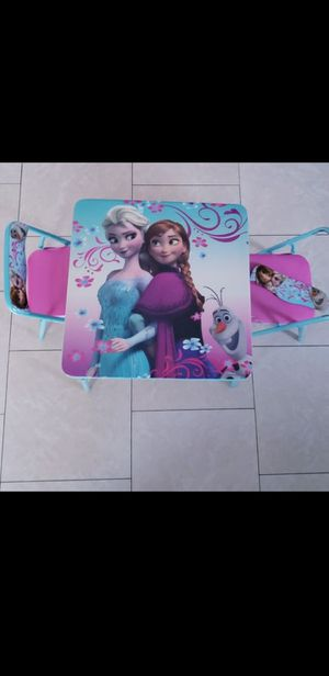Disney frozen elsa kids foldable table & Chairs for Sale in Moreno Valley, CA