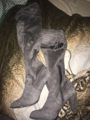 Grey over the knee boots for Sale in Fort Washington, MD