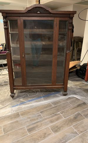 Antique maple china cabinet for Sale in UPPR MARLBORO, MD
