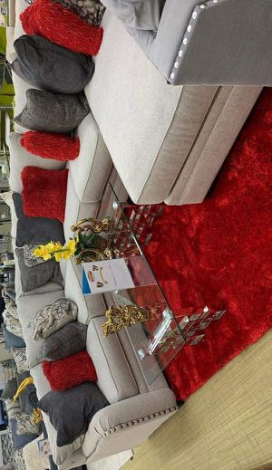 Dellara Chalk RAF Sectional /couch /living room set for Sale in Pflugerville, TX