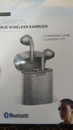 Carbon true wireless earbuds for Sale in Stockton, CA