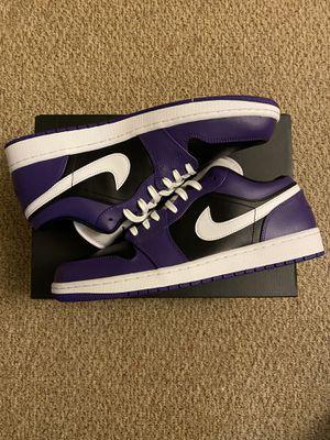 Nike Jordan 1 Low Court Purple Black for Sale in Seaford, DE