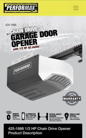 Garage door opener Performax Model#425-1666 for Sale in Crete, IL