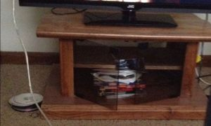Antique Wood Entertainment Center with Glassdoors for Sale in St. Louis, MO