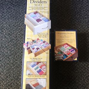 Combo Set: Pair of 2 Drawer Dividers & Organizers for Sale in San Francisco, CA