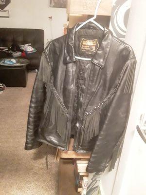 BONUS Genuine Leather motorcycle jacket XXL for Sale in Portland, OR