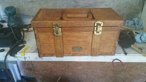 Antique Thomas wooden toolbox museum seris l.t.d for Sale in Dublin, GA