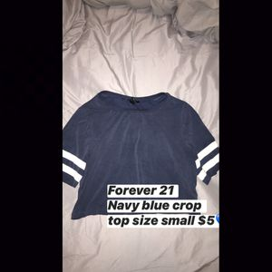 Blue crop top shirt for Sale in Dinuba, CA