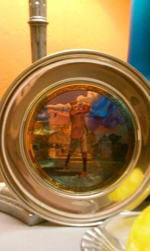 Stained Glass & Pewter Collectable Plate for Sale in San Bruno, CA