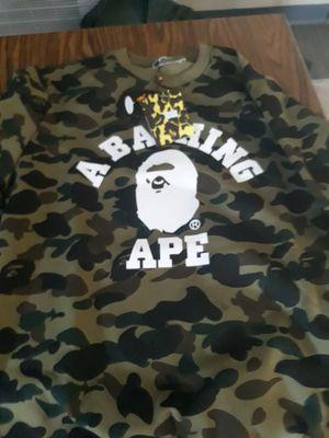 Bape Men's Camo Logo Sweat Shirt Size Xtra Large for Sale in Columbia, SC