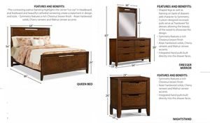 Used Queen Bedroom Set, No Mattress for Sale in Bellwood, PA