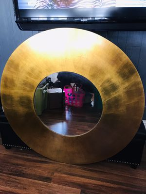 Wall Mirror Round 42 Diameter Heavy Gold Color for Sale in Pinole, CA