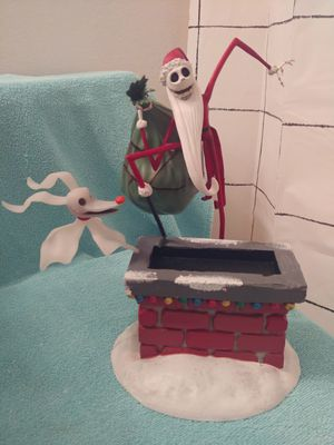 The Nightmare Before Christmas Exclusive Santa Jack and Zero Gallery Figure. for Sale in Chandler, AZ