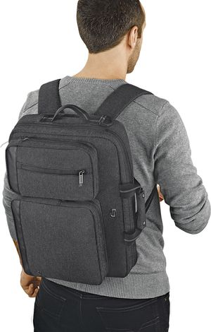 solo NY Convertible Laptop Computer Briefcase Backpack Travel Bag Gray for Sale in Spring Valley, CA