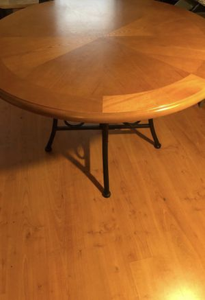 Wood Table with Cast Iron Base -- Kitchen Table & Dining Table for Sale in Philadelphia, PA