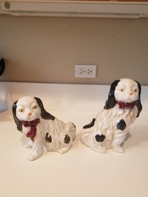 Vintage large ceramic dog statues for Sale in Fairview, OR