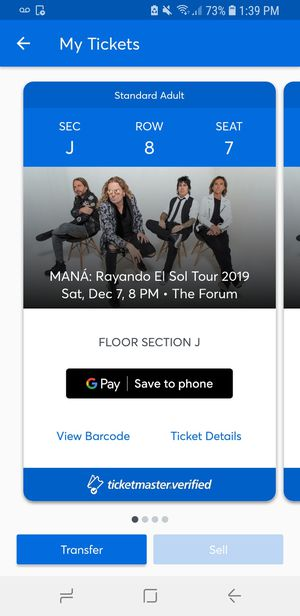 Mana Tickets for Sale in Buena Park, CA