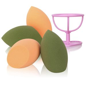 Makeup Sponge with Dry Holder Beauty Sponge Blender Flawless Foundation for Liquid Cream and Powder (4+1Pcs) for Sale in Hartford, CT