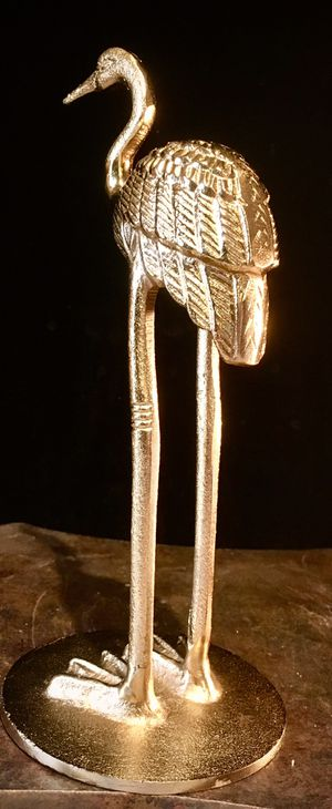 Cast metal bronze sculpture Bird H9.5xW4.5 inch for Sale in Chandler, AZ