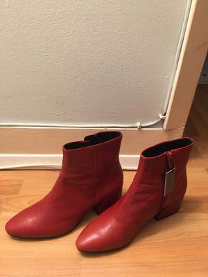 Olivia Vagabond Red Leather Boots BRAND NEW Size 8 for Sale in San Francisco, CA