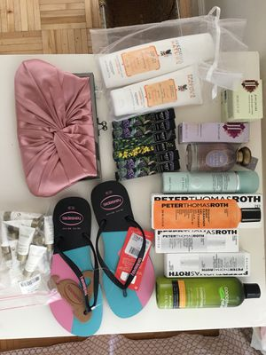 Peter thomas roth Cosmetics, shampoo, slippers, handbag for Sale in Brooklyn, NY