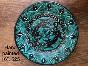 Beautiful hand painted wall plate or shallow bowl. $27 for Sale in Columbia, SC