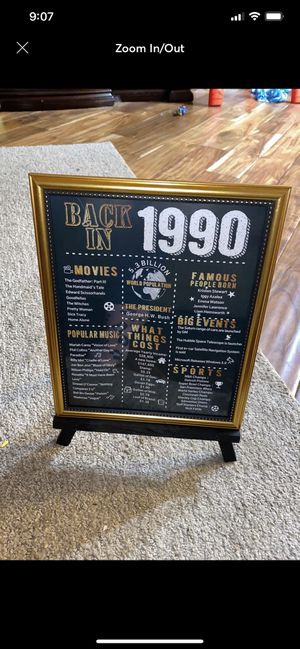 1990 30th birthday sign for Sale in Williamson, WV