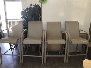 4 high chairs for the bar or pool $10.00 each for Sale in San Rafael, CA
