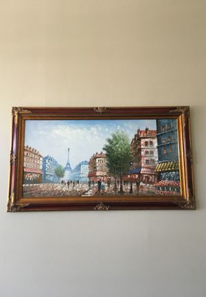 Large Paris painting signed by Burnett for Sale in Peoria, AZ