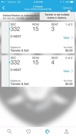 Raiders tickets for Sale in Sanger, CA