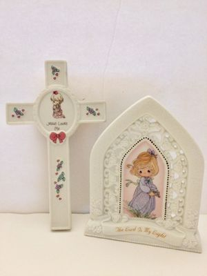 Precious Moments - Wall Cross And Scripture Plaque for Sale in Grand Island, FL