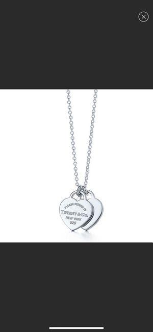 """Tiffany & CO. Mini double heart pendant 16"""" for Sale in Peachtree Corners, GA"""
