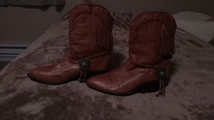Zline by Zodiac soft leather fringe boots for Sale in Spokane, WA