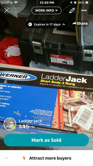 Ladder jack for Sale in Schenectady, NY