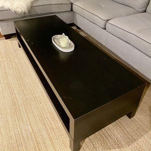 Black Brown Coffee Table/TV Stand for Sale in Coronado, CA