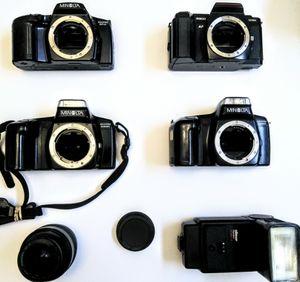Minolta Film Camera Bundle + Accessories for Sale in Sacramento, CA