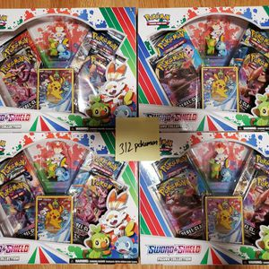 Pokemon TCG: Sword & Shield Figure Collection   4 Booster Packs   1 Full-Art foil Card Featuring Pikachu   Genuine Cards for Sale in Chicago, IL