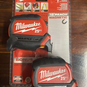Milwaukee 25 Ft Double Sided Tape Measure for Sale in Naperville, IL