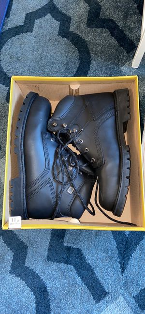 Men's Black Leather Steel Toe Boots 11Wide for Sale in KNG OF PRUSSA, PA